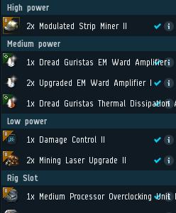 Fiteos de las naves mineras